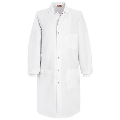 Red Kap Unisex Specialized Cuffed Lab Coat - XS - White