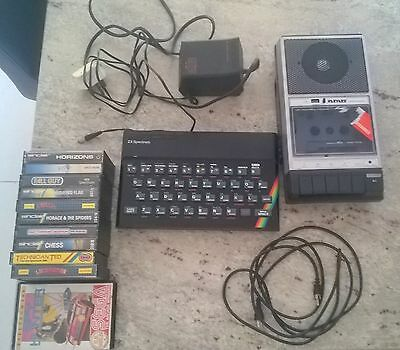 Sinclair ZX Spectrum 48k, manuals and games