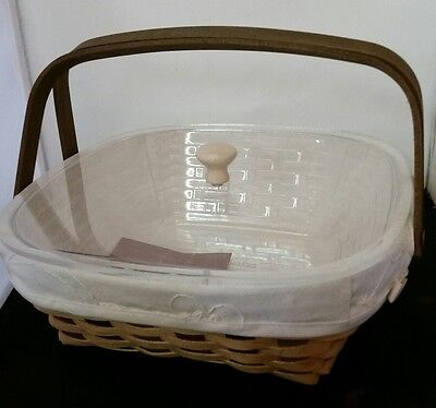 Longaberger Woven Memories American Craft 2008 Basket, Lid and Liners