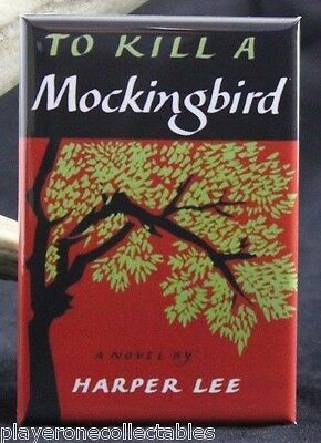"To Kill a Mockingbird Book Cover  2"" X 3"" Fridge / Locker Magnet. Harper Lee"