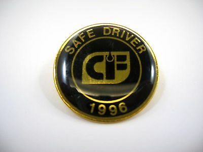 Vintage Collectible Pin: 1996 CF Consolidated Freightways Trucking Safe Driver