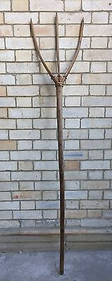 VINTAGE rustic wooden hay fork - handmade - HIGHLY DECORATIVE