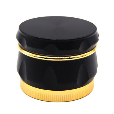"1.6"" 44 mm 4 Piece Grinder Herb Spice Crusher Drum Design Wine Barrel BLACK"