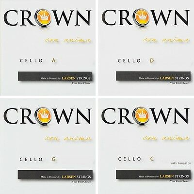 CROWN Strings by LARSEN 4/4 Cello Violoncello Saiten SATZ Strings SET