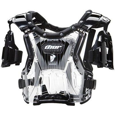 THOR QUADRANT Chest Protector Motorcycle roost guard clear/black