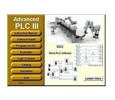 PLC 3 Programming Software Ladder & Logic IEC Industrial Standard Simulation CD