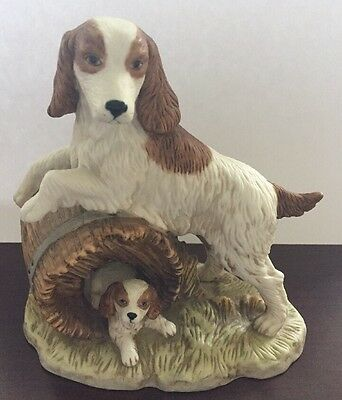 Home Interior HOMCO Figurine 1448 Springer Spaniel Family Dog Figurine