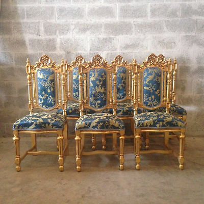 Six Antique Dining Room Chairs