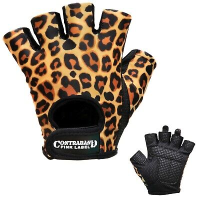 CLEARANCE 50% OFF Contraband Pink Label 5297 Leopard Print Lifting Gloves (PAIR)