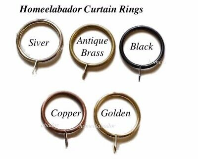 12x30mm Metal Curtain rings with eyelets Black,Silver,Brass,Copper, Golden Color