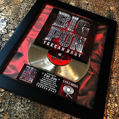 Big Pun YEEEAH BABY Platinum Record Disc Album Music Award MTV RIAA Fat Joe