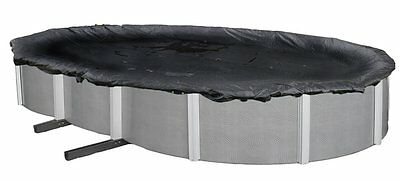 Winter Pool Cover Above Ground 16X28 Ft Oval Arctic Armor 8Yr Warranty w/ Clips