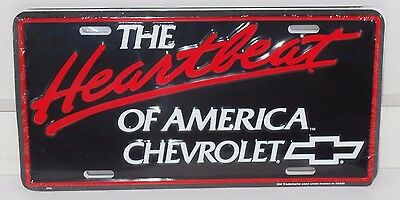 The Heartbeat Of America Chevrolet Alum License Plate-Made In Usa Chevy Bowtie