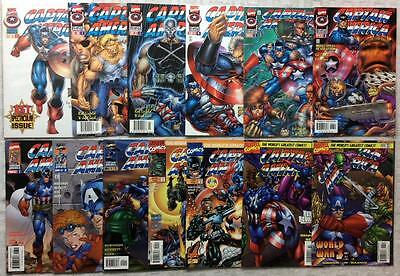 Captain America complete 2nd series #1 - #13 (Marvel 1996) FN to VF condition.