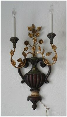 Italian Wood/Iron Sconce Palladio Neoclassical Gilt Hollywood Regency Vintage