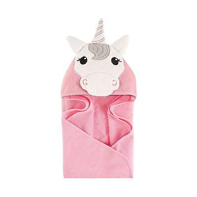 Hudson Baby Animal Hooded Towel Unicorn 33''x33'' - NEW FREE SHIPPING