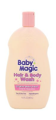 Baby Magic Hair and Body Wash Original Baby Scent 16.5 Ounces (Pack of 2) - NEW