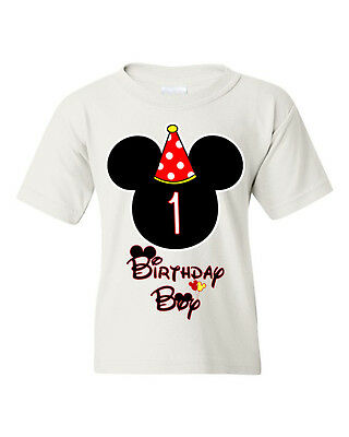 🔥 Birthday Boys Kids T-shirt Mickey shirt customized any age Youth toddlers