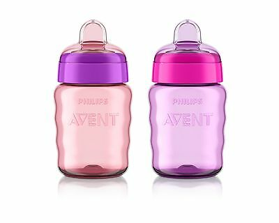 Philips Avent My Easy Sippy Cup 9 Ounce Pink/Purple Stage 2 (colors may vary)