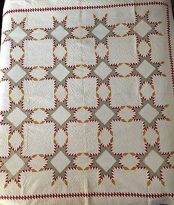 Best Quilting Early Appliqué Antique Quilt