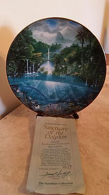 Sanctuary of the Dolphin Plate COA Enchanted Seascapes -The Hamilton Collection