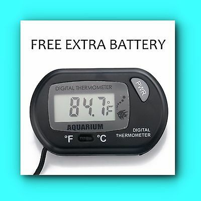 NEW TINY SEAS Digital LCD HYDROPONIC Temperature Thermometer FREE EXTRA BATTERY