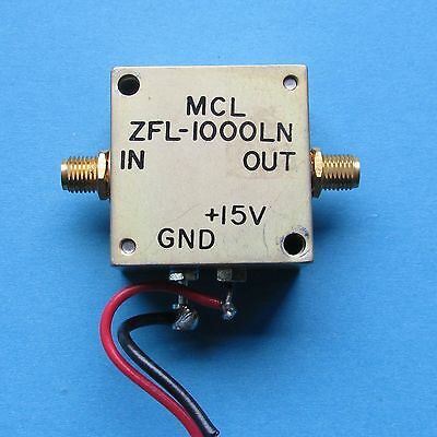 Used Good Mini-Circuits MCL ZFL-1000LN 0.1-1000MHz 20dB SMA Low Noise Amplifier