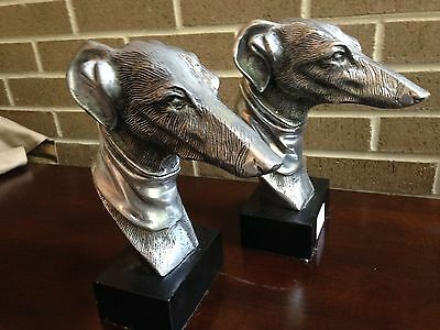 Silvertone Greyhound Dog book Ends $159.90 now $79.90