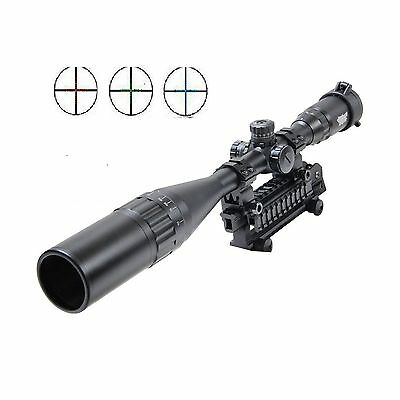 UUQ 4-16X50mm AOL Clarity+ Hunting Rifle Scope W front AO Adjustment Red/... New