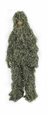 New Ghillie Suit M/L or XL/XXL Camo Woodland Camouflage Forest Hunting 4-... New