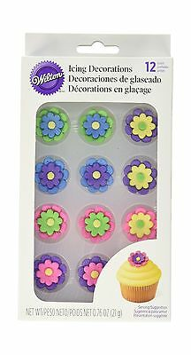 Wilton 710-1494 Icing Flower Double Stacked Multicolored New