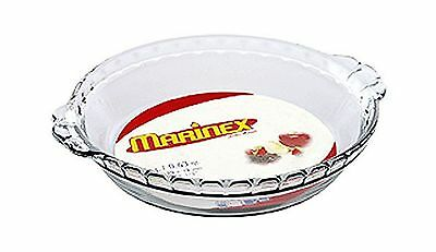 Marinex Glass Fluted Pie Dish 9-Inch New