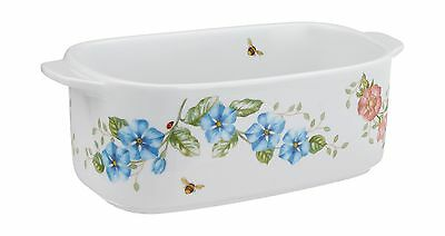 Lenox Butterfly Meadow Loaf Pan White New
