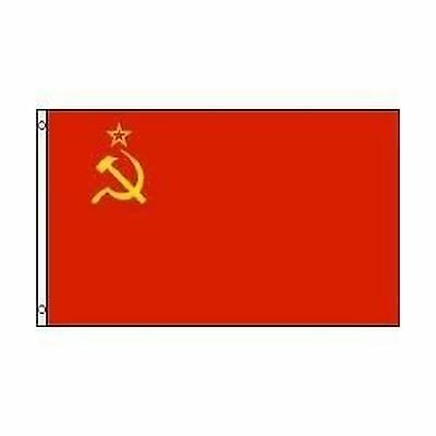 USSR SOVIET UNION CCCP OLD RUSSIAN 3 X 5 FEET LARGE COUNTRY FLAG BANNER .... New