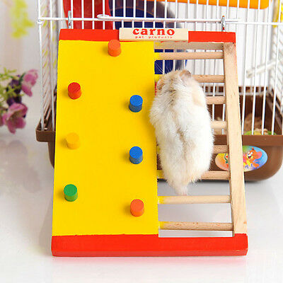 Wooden Hamster Climbing Toy Gerbil Guinea Pig Ladder Toy Small Pet Exercise Tool