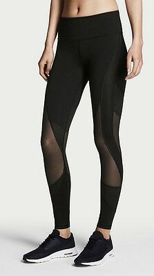Nwt Victoria's Secret Sport Black Sheer Mesh Panel Knockout Tight Yoga Leggings