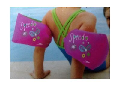 Speedo Fabric Armbands Pink/lime with Butterflies (Ages 2-12) by Speedo New