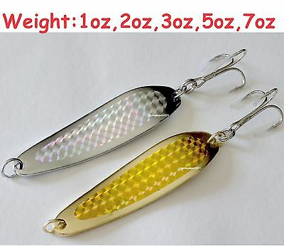 Gold & Silver Casting Crocodile Fishing spoons Choose Weight & Pieces 2 to 20