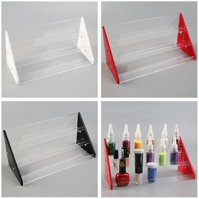 Clear Acrylic Nail Polish Tiers Cosmetic Varnish Display Stand 3/4/5 Tier Rack