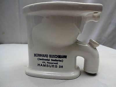 Vintage Toilet Bernhard Busch Continental Sanitaries Salesman Sample Commode