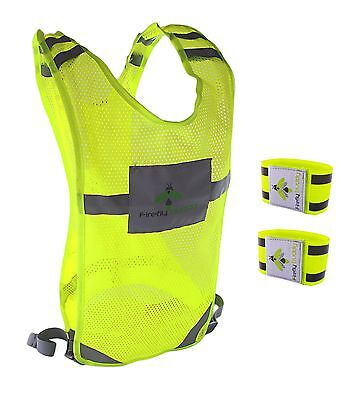 REFLECTIVE VEST Great for Runnning Cycling Walking with Hi Viz arm band included