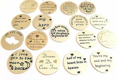 Buy 2 get 3rd FREE 22mm Steel MESSAGE back plate for 30mm Living Memory Locket