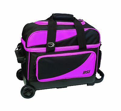 BSI Double Ball Roller Bowling Bag Black/Pink New