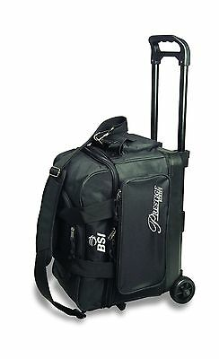 BSI Prestige Series Double Ball Roller Bag Black/Silver Logo New