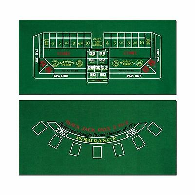 Brybelly Blackjack and Craps Felt Layout New