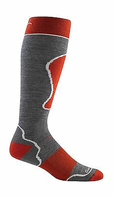 Darn Tough Men's Over The Calf Padded Cushion Socks Gray/Red Large New