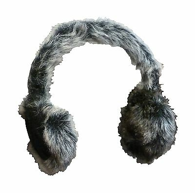 N'Ice Caps Girls and Adults Faux Mink Trimmed Adjustable Ear Muffs New