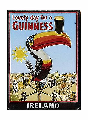Guinness Metal Magnet With Embossed Toucan On Weathervane New