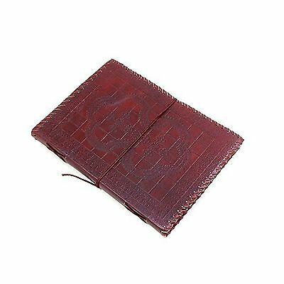 Store Indya Leather Travel Diary Unlined Journal Notebook Hand Embossed w... New