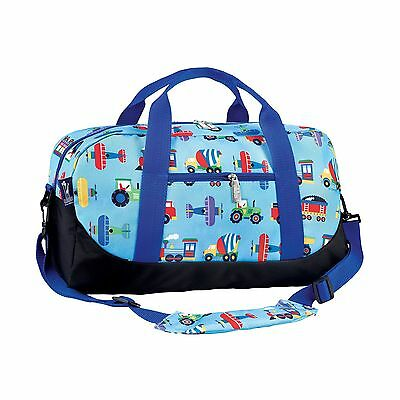 Wildkin Olive Kids Trains Planes and Trucks Duffel Bag New